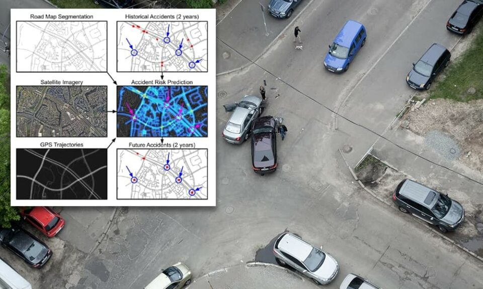 Maillot de bain AI predicts accident hot-spots from satellite imagery and GPS files